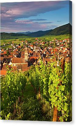 Early Morning Overlooking Village Canvas Print by Brian Jannsen