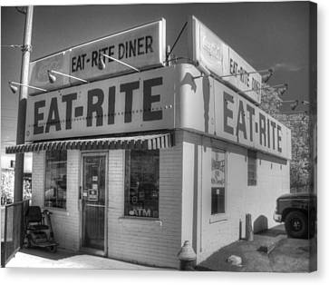 Eat Rite Diner Route 66 Canvas Print by Jane Linders