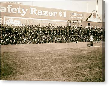 Ebbets Field - Home Of The Brooklyn Robins 1919 Canvas Print by Mountain Dreams