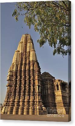 Eestern Temples Of Khajuraho Madya Pradesh India Canvas Print by Rudra Narayan  Mitra