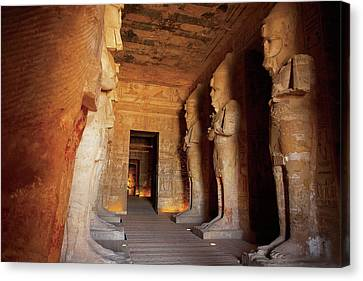 Egypt, Abu Simbel, The Greater Temple Canvas Print by Miva Stock