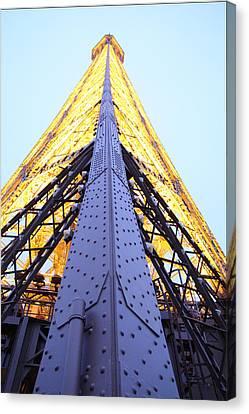 Eiffel Tower - Paris France - 01138 Canvas Print by DC Photographer