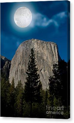 El Capitan, Yosemite Np Canvas Print by Mark Newman