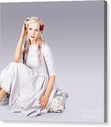 Elegant Fashion Girl Canvas Print by Jorgo Photography - Wall Art Gallery