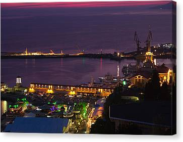 Elevated View Of Sea Terminal Canvas Print by Panoramic Images