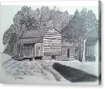 Elijah Oliver Cabin Canvas Print by Tony Clark