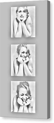Emotions Canvas Print by Kristie  Bonnewell