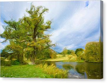 English Landscape Canvas Print by Tom Gowanlock