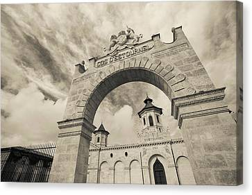Entrance Of A Winery, Chateau Cos Canvas Print by Panoramic Images