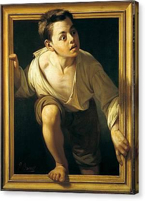 Escaping Criticism Canvas Print by Pere Borrell del Caso