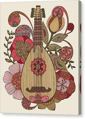 Ever Mandolin Canvas Print by Valentina