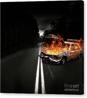 Explosive Car Bomb Canvas Print by Jorgo Photography - Wall Art Gallery
