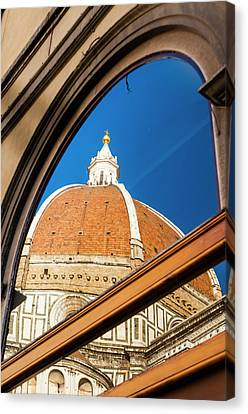 Exterior Of The Cathedral Santa Maria Canvas Print by Nico Tondini