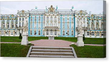 Facade Of A Palace, Tsarskoe Selo Canvas Print by Panoramic Images
