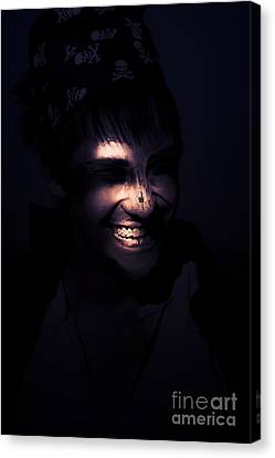 Face Of Horror Terror And Madness Canvas Print by Jorgo Photography - Wall Art Gallery