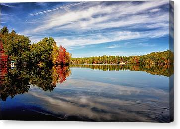 Fall Reflections Canvas Print by Tricia Marchlik