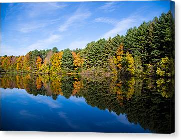 Fall Reflects Canvas Print by Karol Livote