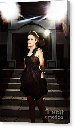 Fashion Model On Steps Canvas Print by Jorgo Photography - Wall Art Gallery