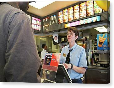 Fast Food Restaurant Canvas Print by Jim West