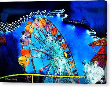 Ferris Wheel Canvas Print by Chuck Staley
