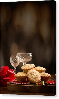 Festive Mince Pies Canvas Print by Amanda And Christopher Elwell