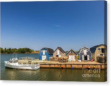 Fishing Dock In Prince Edward Island  Canvas Print by Elena Elisseeva