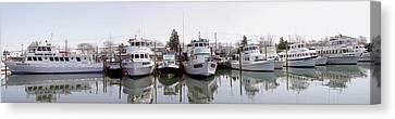 Freeport Fishing Fleet Panorama Canvas Print by Bob Slitzan