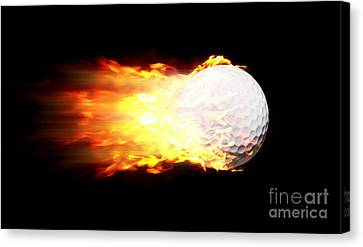 Flame Golf Ball Canvas Print by Jorgo Photography - Wall Art Gallery
