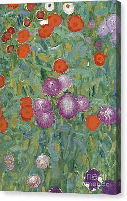 Flower Garden Canvas Print by Gustav Klimt