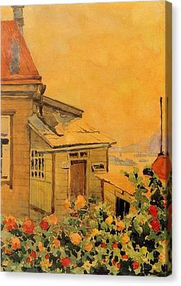 Flower Garden View Of Golden Horn Bay Canvas Print by Jake Hartz