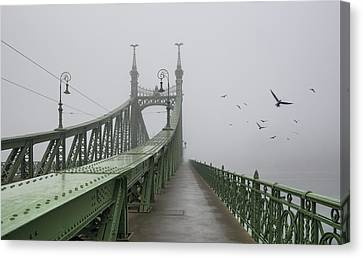 Foggy Day In Budapest Canvas Print by Ayhan Altun