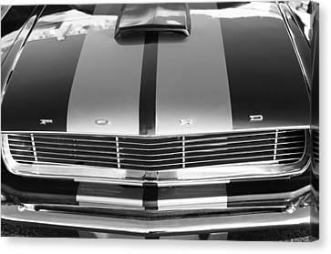 Ford Mustang Grille Canvas Print by Jill Reger