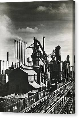 Ford's River Rouge Plant Canvas Print by Underwood Archives