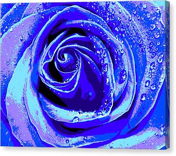 Forever In Blue Canvas Print by Krissy Katsimbras