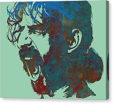 Frank Zappa Stylised Pop Art Drawing Potrait Poser Canvas Print by Kim Wang