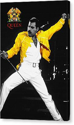 Freddie Mercury Live In Wembley1986    Canvas Print by Don Kuing