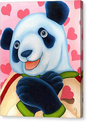 From Okin The Panda Illustration 15 Canvas Print by Hiroko Sakai