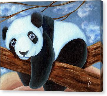 From Okin The Panda Illustration 7 Canvas Print by Hiroko Sakai