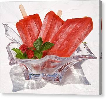 Frozen Fruit Juice Popsicles Canvas Print by Iris Richardson