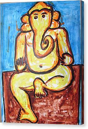 Ganesha-a4 Canvas Print by Anand Swaroop Manchiraju