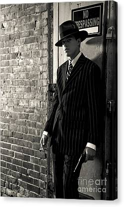 Gangster In The Shadows Canvas Print by Diane Diederich
