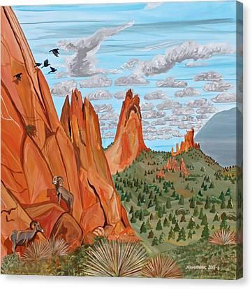 Garden Of The Gods Canvas Print by Mike Nahorniak