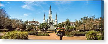 Garden Of The St. Louis Cathedral Canvas Print by Panoramic Images