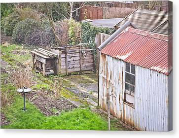 Garden Shed Canvas Print by Tom Gowanlock