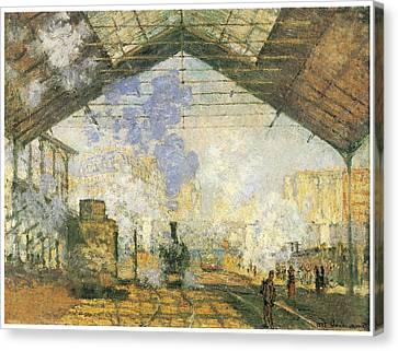 Gare Saint-lazare Canvas Print by Claude Monet