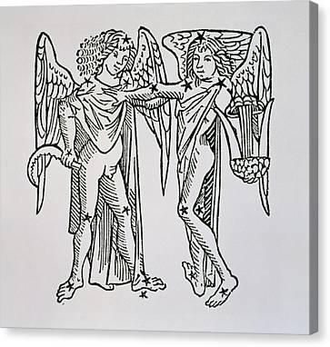 Gemini An Illustration Canvas Print by Italian School
