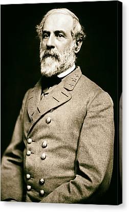 General Robert E Lee 1862 Canvas Print by Mountain Dreams