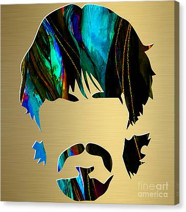 George Harrison Gold Series. Canvas Print by Marvin Blaine