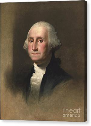 George Washington Canvas Print by Rembrandt Peale
