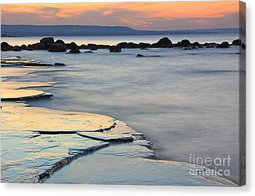 Georgian Bay Sunset Canvas Print by Charline Xia